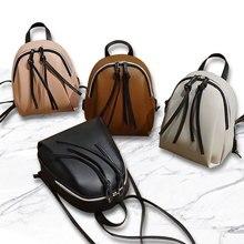 Mini Backpack Shoulder Bag Women PU Leather High Quality Youth Teenag Multi-Function Small Female Ladies School fashion
