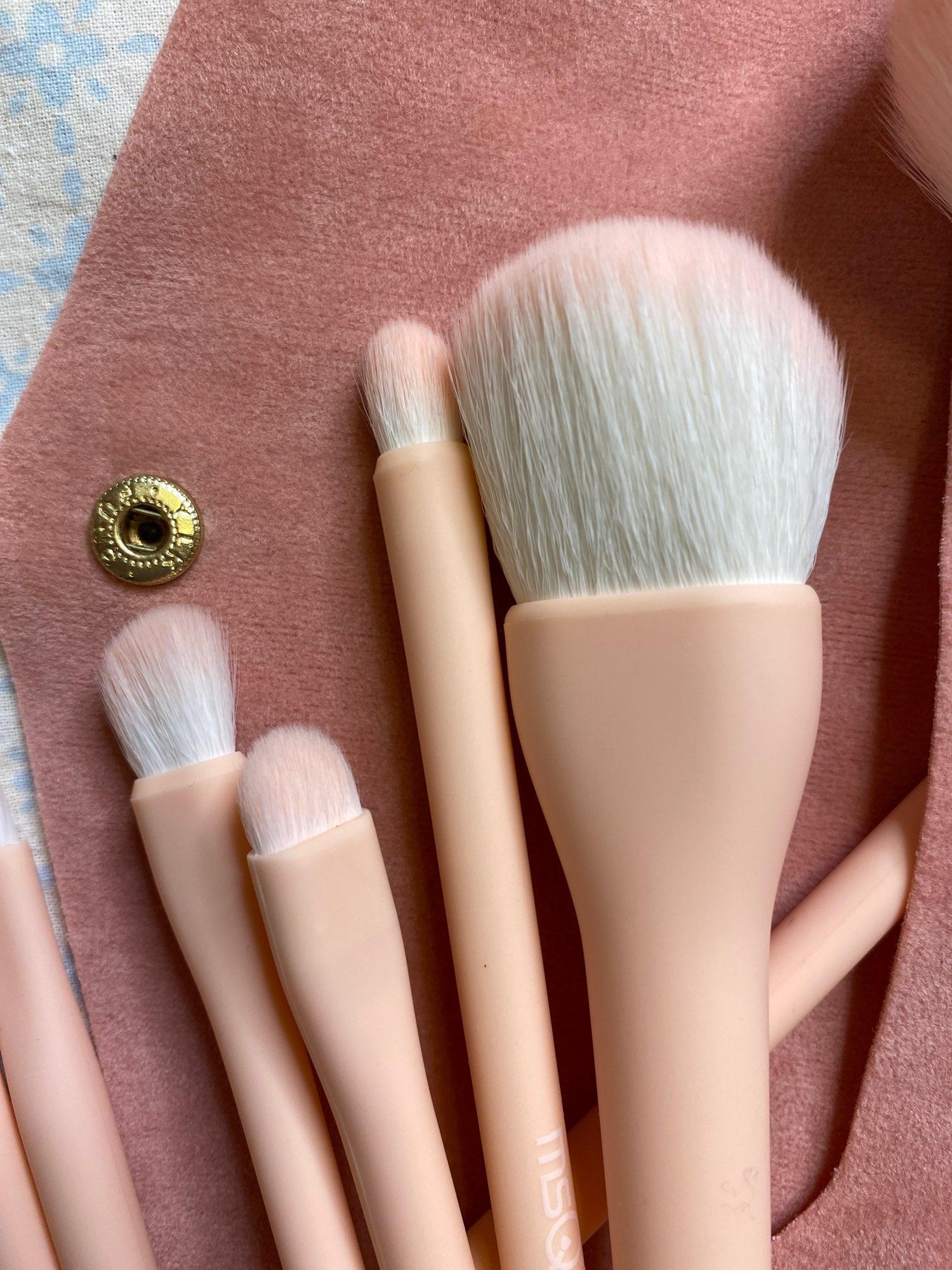 8PCS Makeup Brushes Sets Powder Foundation Blusher Eyeshadow Brush Candy Cosmetic Colorful Make Up NO MSQ LOGO With Bag reviews №3 223979
