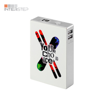 Power bank INTERSTEP 12000 mah, pass through charge, 2USB, print, soft touch, display