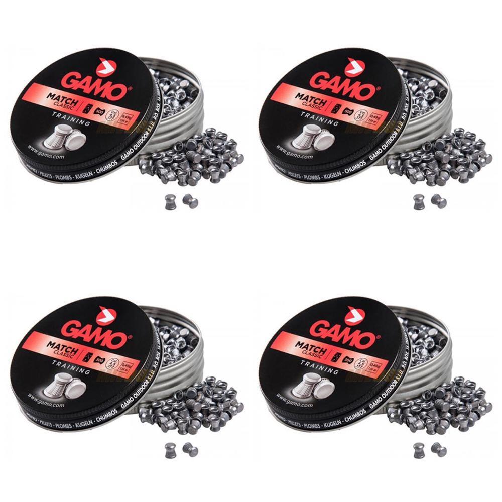 Livraison 24-48h paquet 4 x pastilles GAMO Match Diabolo calibre 4.5mm 6320024 étain 250 pastilles GAMO Match Diabolo calibre 4.5