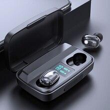M13C TWS Беспроводные Bluetooth 5,0 наушники с шумоподавлением Беспроводные Стерео Игровые гарнитуры светодиодный внешний аккумулятор 3500 мАч
