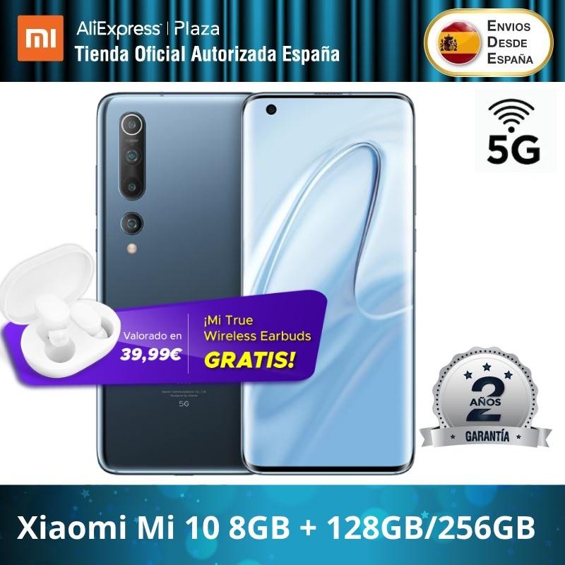 Xiaomi Mi 10 5G (128GB ROM 8GB RAM/ 256GB ROM 8GB RAM, 4G/5G ,Snapdragon™ 865) [Teléfono Móvil Versión Global para España]