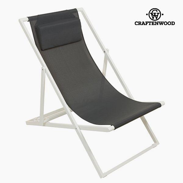 Bahçe sandalye alüminyum Textilene gri title=
