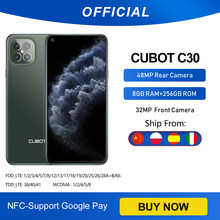 Cubot C30 48MP Quad Ai Camera 8Gb + 256Gb 32MP Selfie Smartphone Global 4G Lte Helio p60 Nfc 6.4 Inch Fhd + 4200Mah Android 10