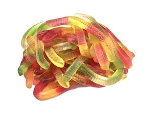 Marmalade worms neon fruit Damel 100 gr.