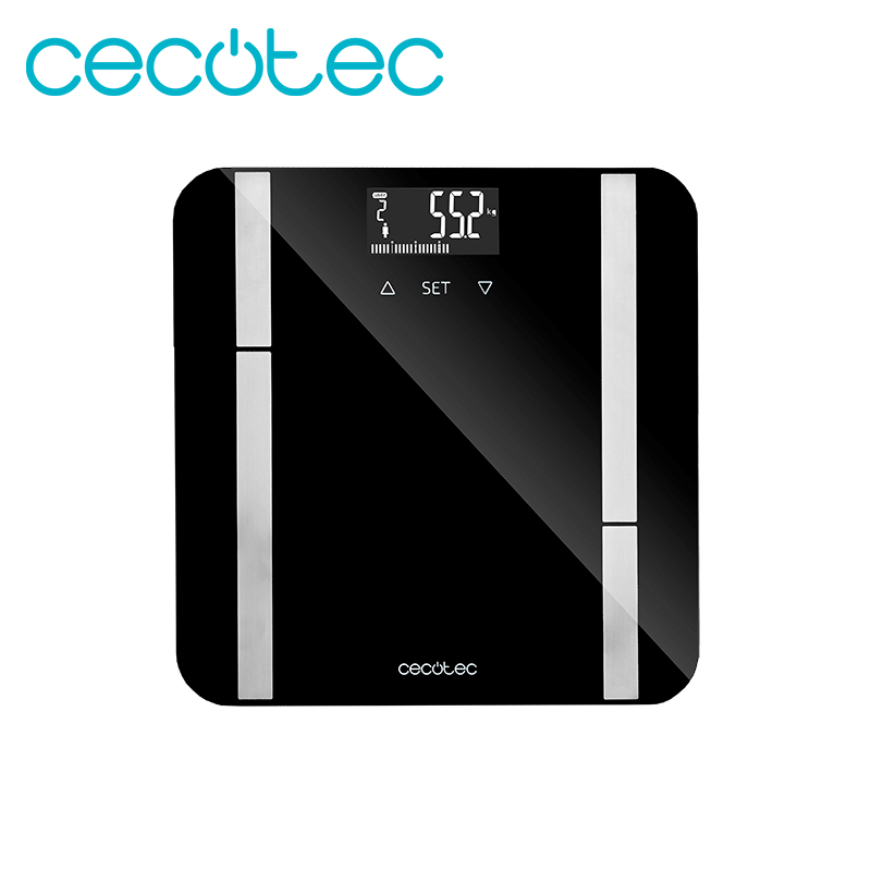 Cecotec Surface Precision 9450 Full Healthy Smart Digital Electric Scale With Tempered Glass Platform LCD Display Maximum 180kg