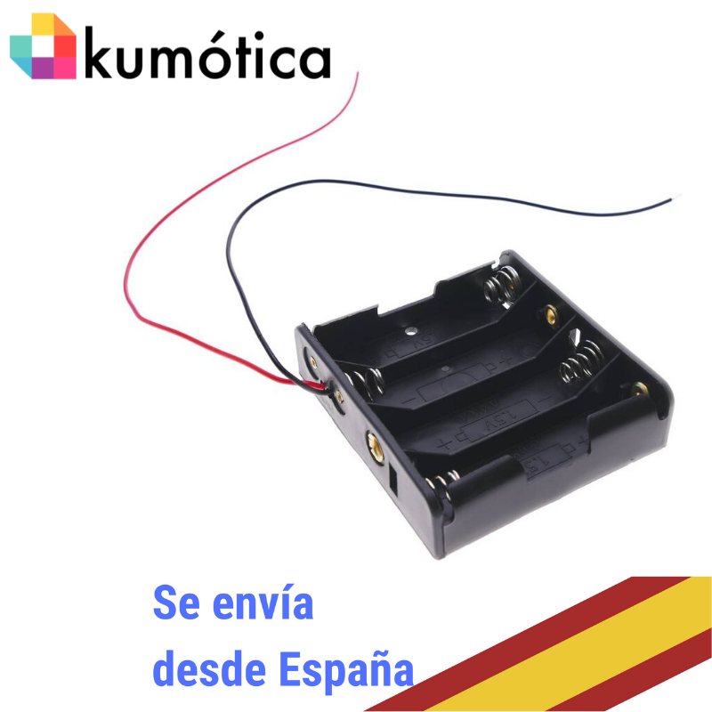 Base Baterias 4 AA Battery Case Without Connector For Arduino Projects/Microbit