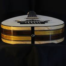 Oud electroacústico turco hecho a mano, arábiga, Ud, Lute, árbol de nogal, profesional, nivel de concierto con ecualizador