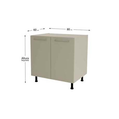 Kitchen Furniture Low 80 With 2 Doors In Various Colors
