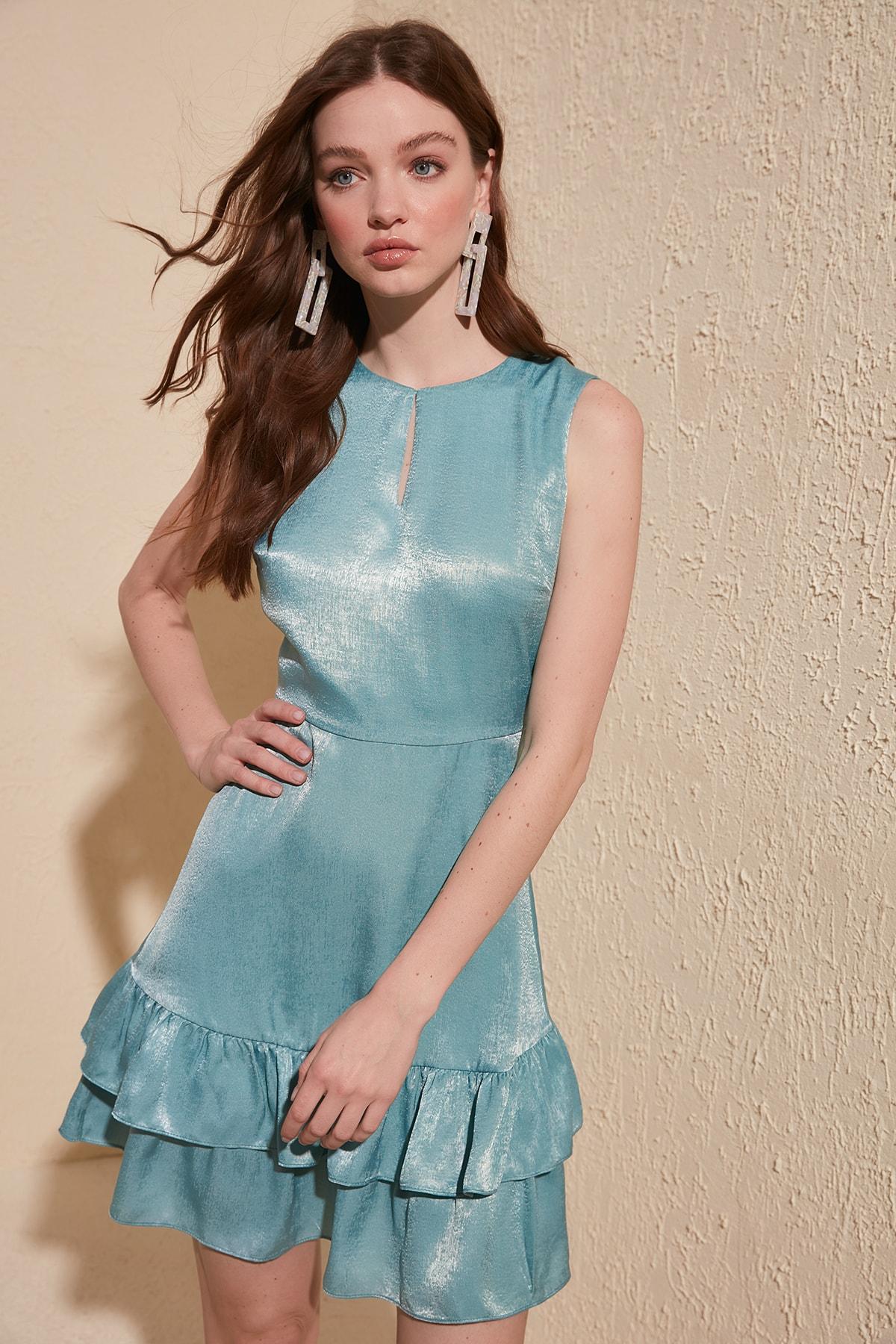Trendyol Flounces Dress TWOSS20EL1217