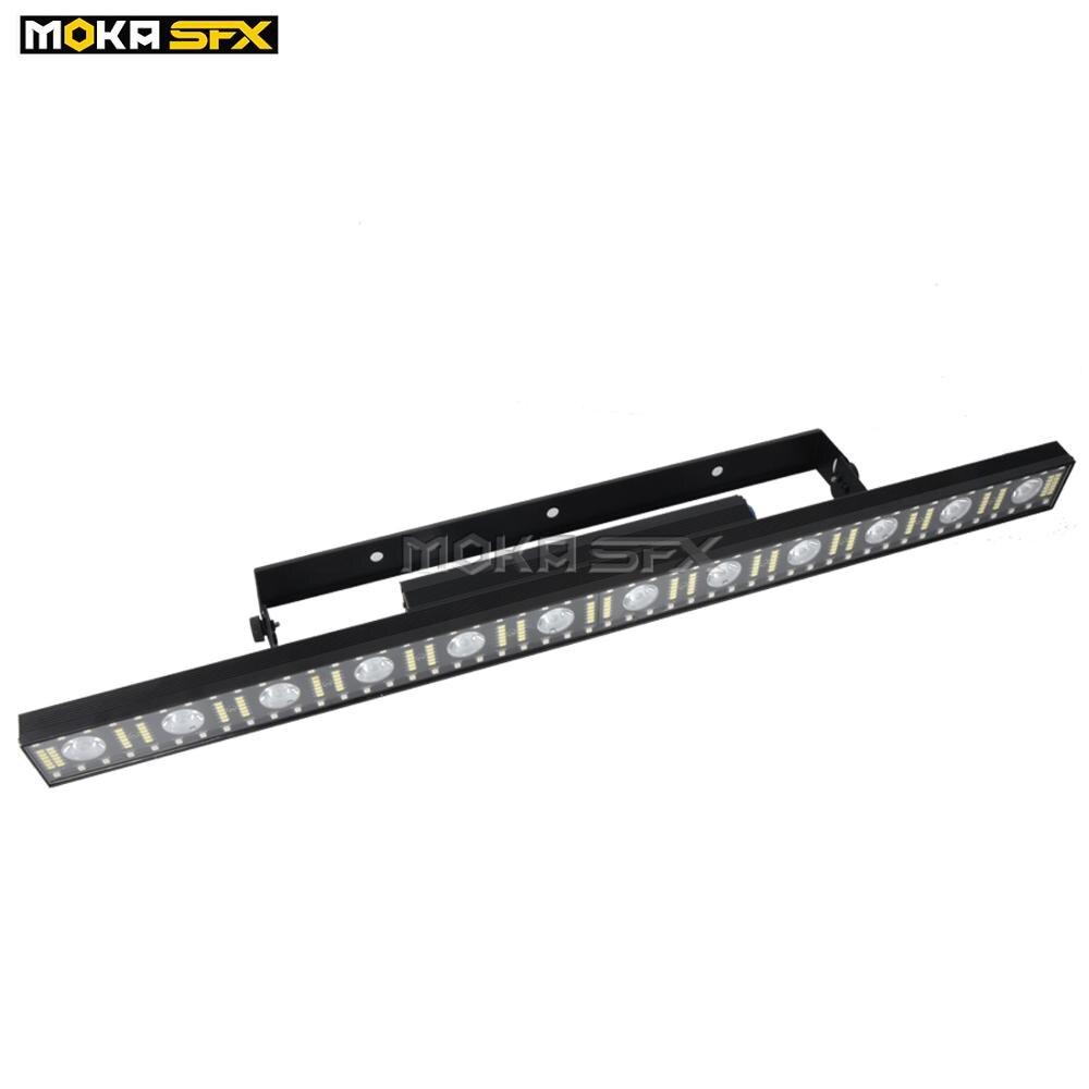 4 pçs/lote Stage LED Light Bar 12x Lira 3w LED Wash Luz DMX Lavagem Lavagem Feixe de Luz Do Estágio do RGB 3in1 Parede para Bar Discoteca Dj Stage Luz