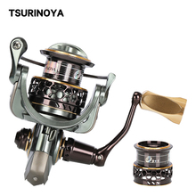 TSURINOYA JAGUAR 2000 2 Spool Spinning Fishing Reel 9+1BB 4KG Max Drag Saltwater Fishing Lure Reel Rigid Fishing Tackle