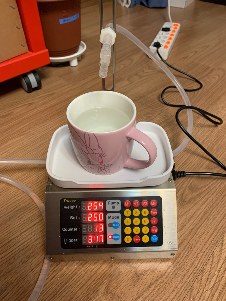 ZONESUN 220V 10-3000ml Semi Automatic Beverage Mineral Water Milk Drink Bottle Filler Liquid Weight Gravity Gear Pump Perfu