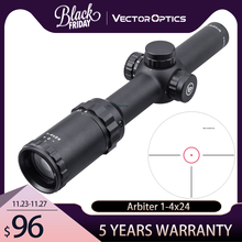 Hunting Riflescope Sight Airguns Vector-Optics 30-06 Red Dot 1-4x24 Illuminated SFP