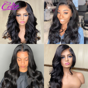 Image 5 - Celie Hair 4x4 6x6 Closure Wig Body Wave Human Hair Wigs For Black Women 13x6 Lace Front Human Hair Wig Body Wave Lace Front Wig