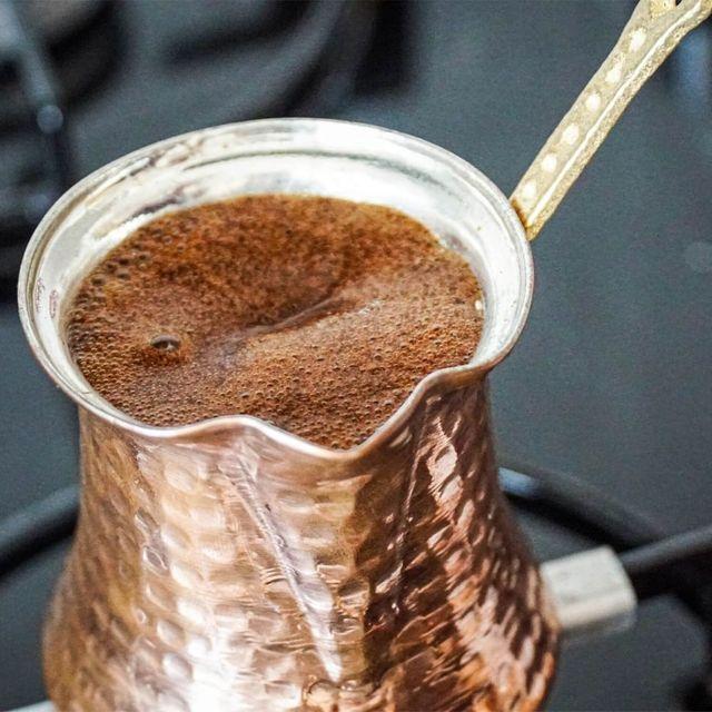 Hand Hammered Ibrik Turkish Coffee Pot 3