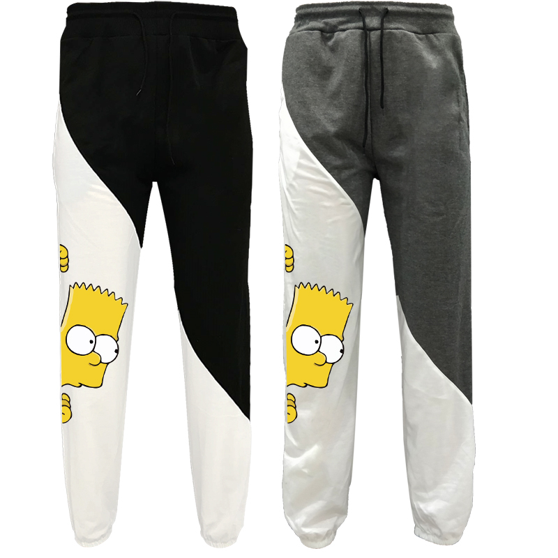 Bart Simpson Funny Printed Sweatpants Cozy Trousers Jogger Pants With Drawstring|Pants & Capris|   - AliExpress