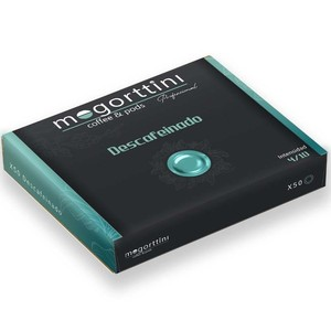 Mogorttini decaffeinated, compatible with professional Nespresso 50 capsules.