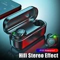 Наушники Bluetooth 5 0  настоящие беспроводные наушники V11 TWS  водонепроницаемая гарнитура  стерео спортивные наушники с зарядным устройством  ми...