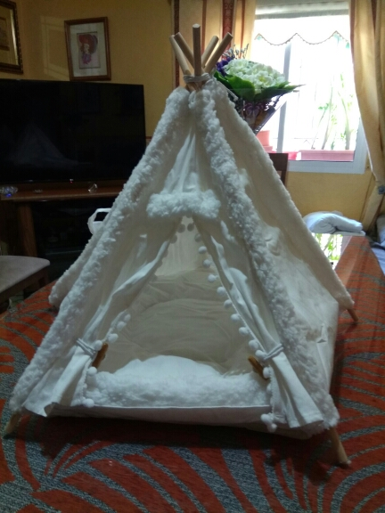 Cute Dog Teepee Bed | Small Dog Teepee | Indoor Dog Teepee photo review