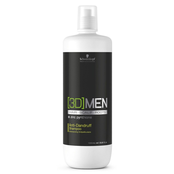 Anti-dandruff Shampoo 3d Men Schwarzkopf (1000 Ml)