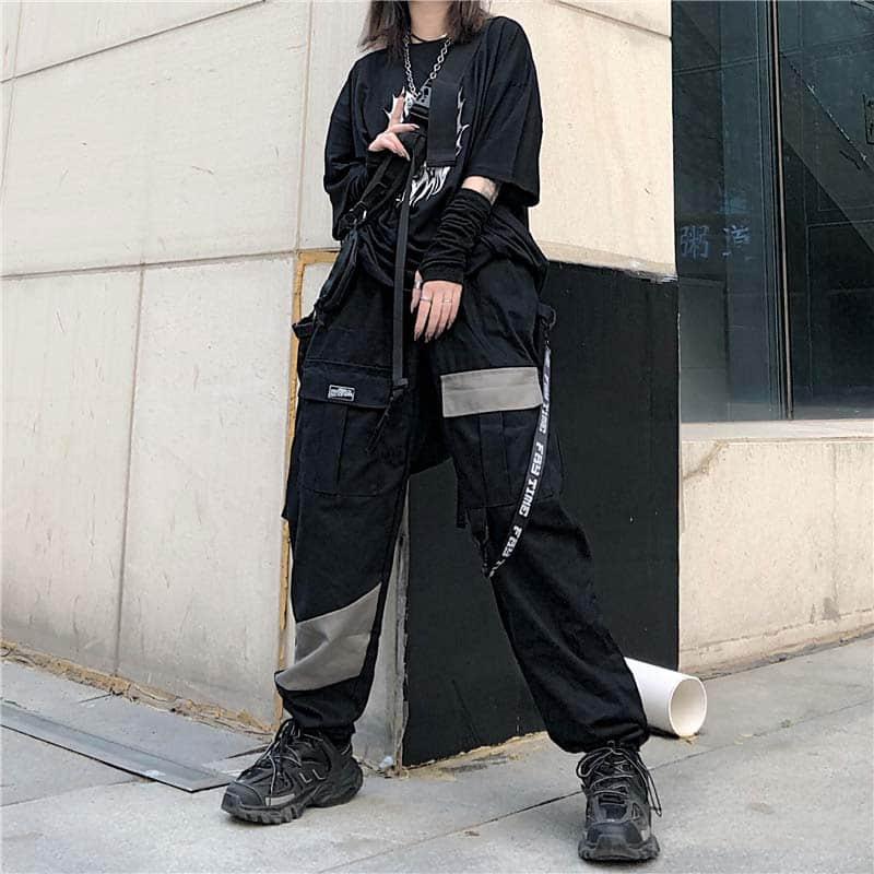 NiceMix Pockets Cargo Harem Pants Hip Hip Pants Vintage Color Harajuku Jogger Sweatpant Cotton  Joggers Baggy Tactical Trousers