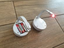 Looks funny. When installing batteries, the color of light gradually changes. To select a