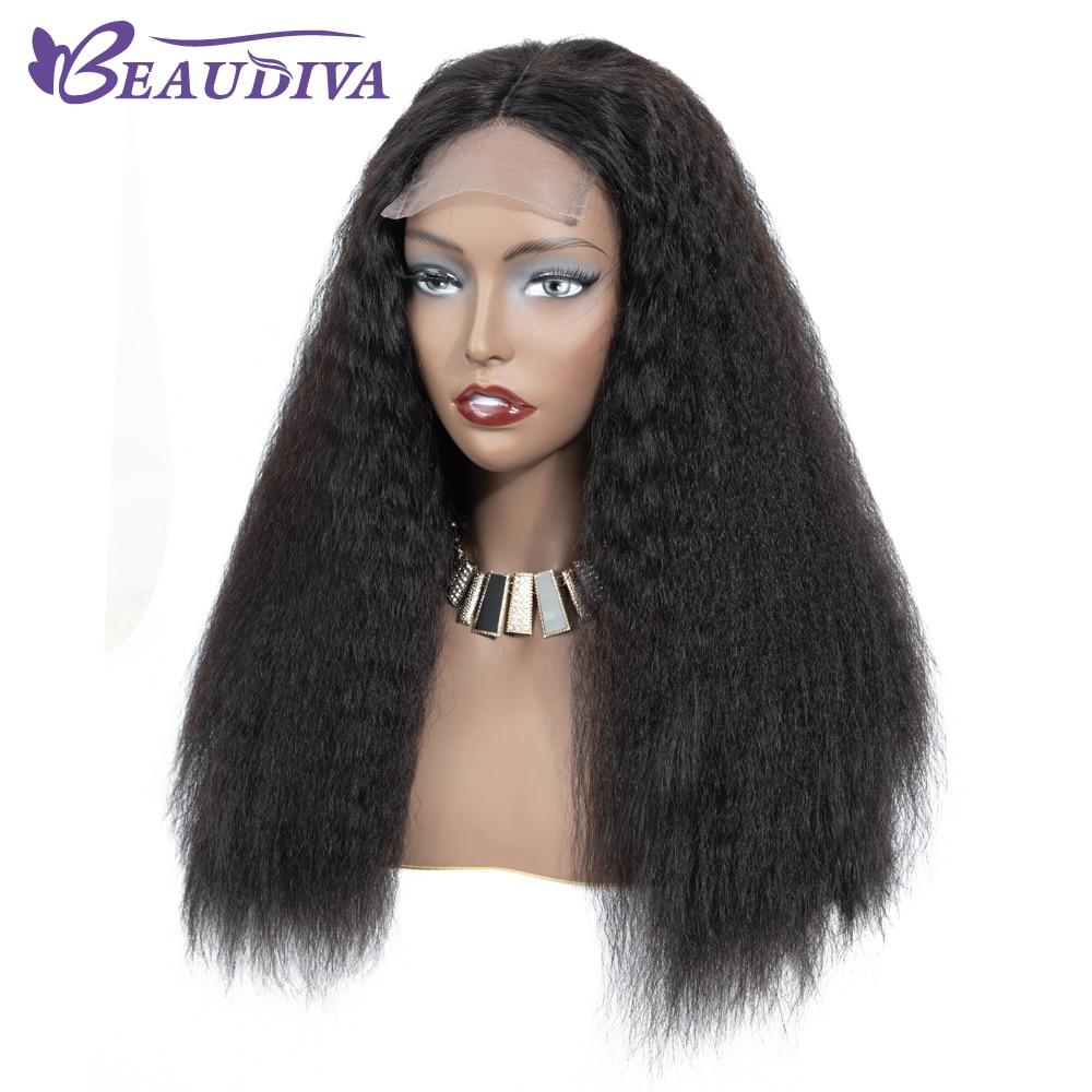 U4036ce80363746ce9b19ba70c7cf6565S Curly Haman Hair Wig Brazilian Kinky Straight 4*4 Lace Closure Prepluck with baby hair closure wig 100% Human Hair Wigs