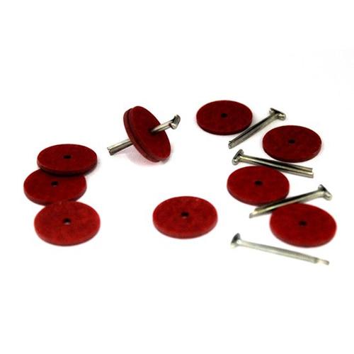 Set Of Fasteners (5 T-pins, 10 Discs Fiber 20mm)