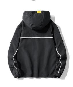 Image 3 - Nieuwe safari stijl jas mannen Herfst Hooded dunne windjack streetwear hip hop rits gele jassen corta vento A037 GSJK0046