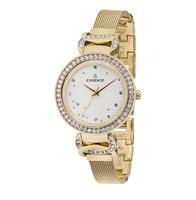 Relógio feminino d937.130 em uma pulseira de aço com revestimento ip com luz solar de vidro mineral|Relógios femininos| |  -