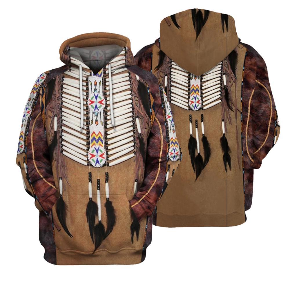 SONSPEE Bohemia Style Hoodie Native American 3D Print Winter Longsleeve Hoodies Harajuku Streetwear Pullover Sudadera Hombre G90