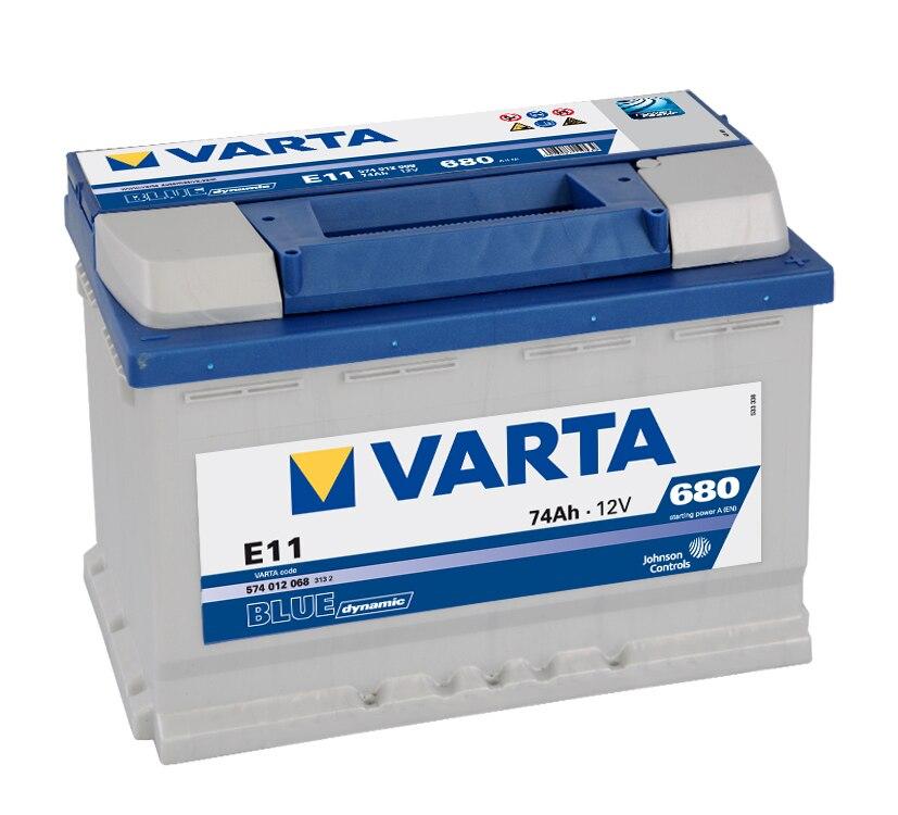 VARTA E11 car batery 74Ah 680A 278x175x190 positive right 574012068|Jump Leads| |  - title=