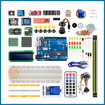 цена на S ROBOT NEWEST RFID Starter Kit for Arduino UNO R3 Upgraded version Learning Suite With Retail Box EC20