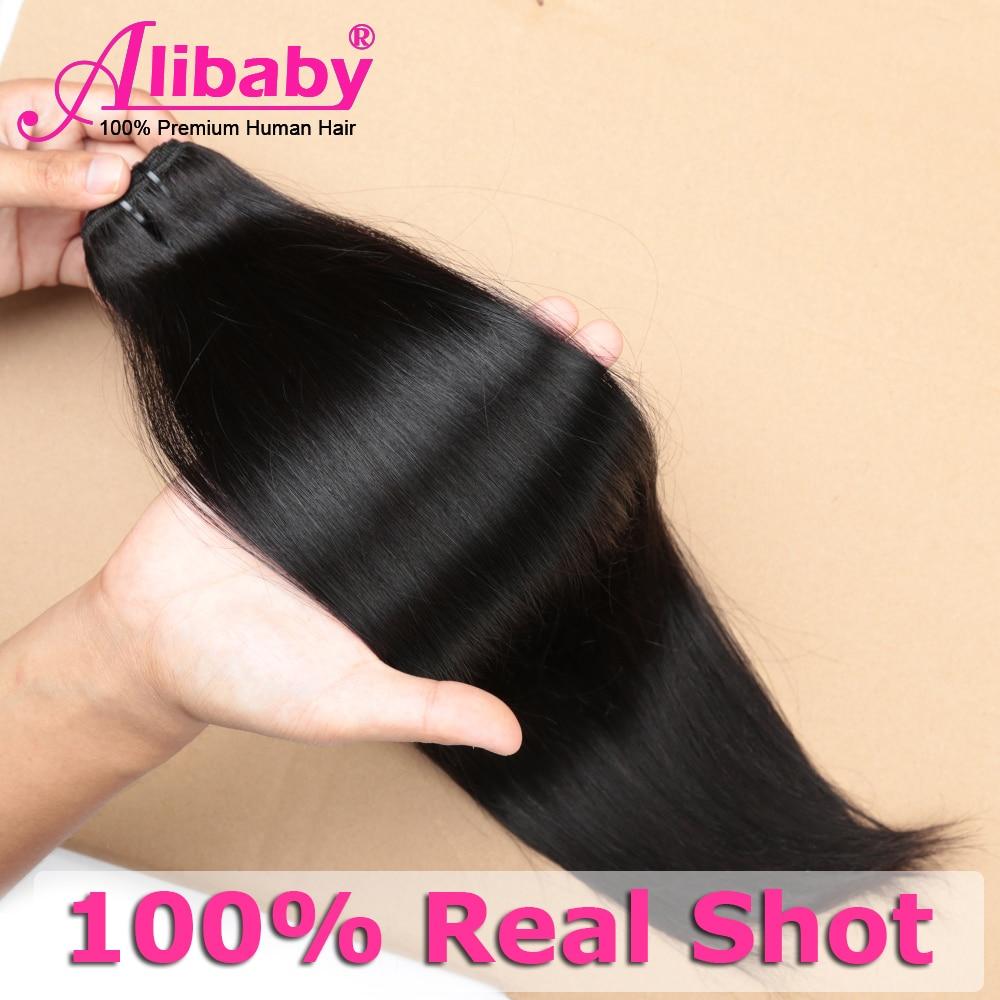 Alibaby Super Double Drawn  Bundles  Straight Virgin Hair  Bundles Natural Color Hair For Top Customer 5