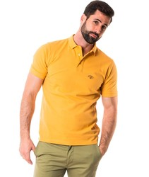 Pole Brand SPAGNOLO BASIC short sleeve Shirts for men mustard