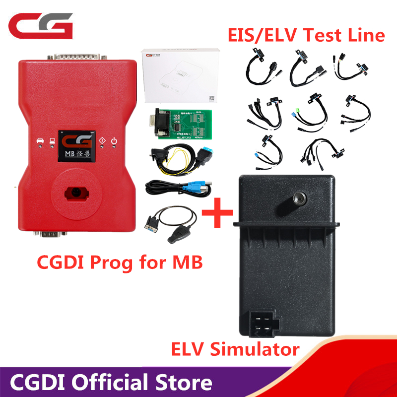 CGDI for <font><b>MB</b></font> Prog Car <font><b>Key</b></font> <font><b>Programmer</b></font> for Benz Support All <font><b>Key</b></font> Lost comes with EIS/ELV Test Line Full Adapters and ELV Simulator image