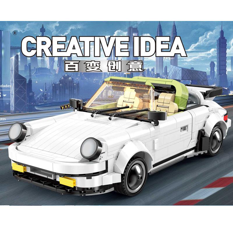882Pcs Technic Moc Series Creator Cars The White Classic Sport Speed Car Set Building Blocks Bricks Kits Kids Technic Toy Gift 1