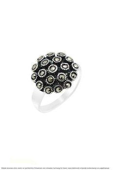 Marcasite Sterling Silver Hedgehog Womens Ring