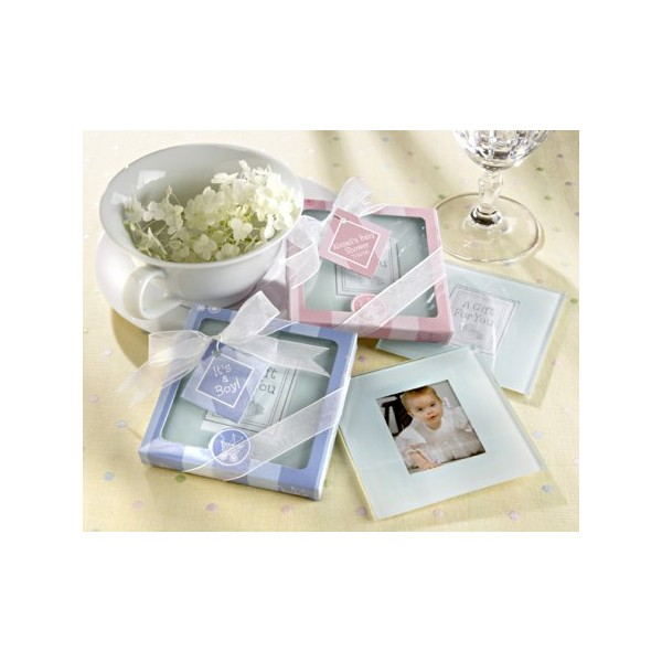Set 2 Coasters NEWBABY PINK GIRL Small In Blister Gift A Game-Details And Gifts For Weddings, Memories Of Baptisms
