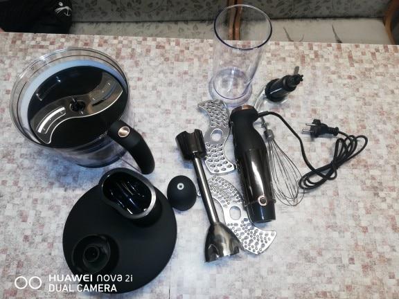 Blender submersible Zigmund & Shtain BH 340 M with chopper whisk immersion appliances for kitchen smoothies Shredder machine|Blenders|   - AliExpress