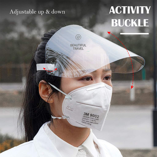 Protective Face Shield 180°Face Protection Isolation Shield Anti-Fog Splash Oil-Splash rain-proof Face Shield Anti-Saliva 3