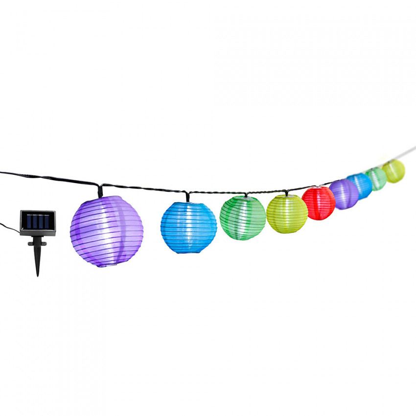 Solar Garland Twilight LED With 10 Colored Lights Nine & One
