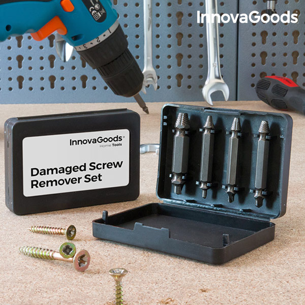 InnovaGoods Damaged Screw Remover Set (Pack of 4)|Power Tool Sets| |  - title=