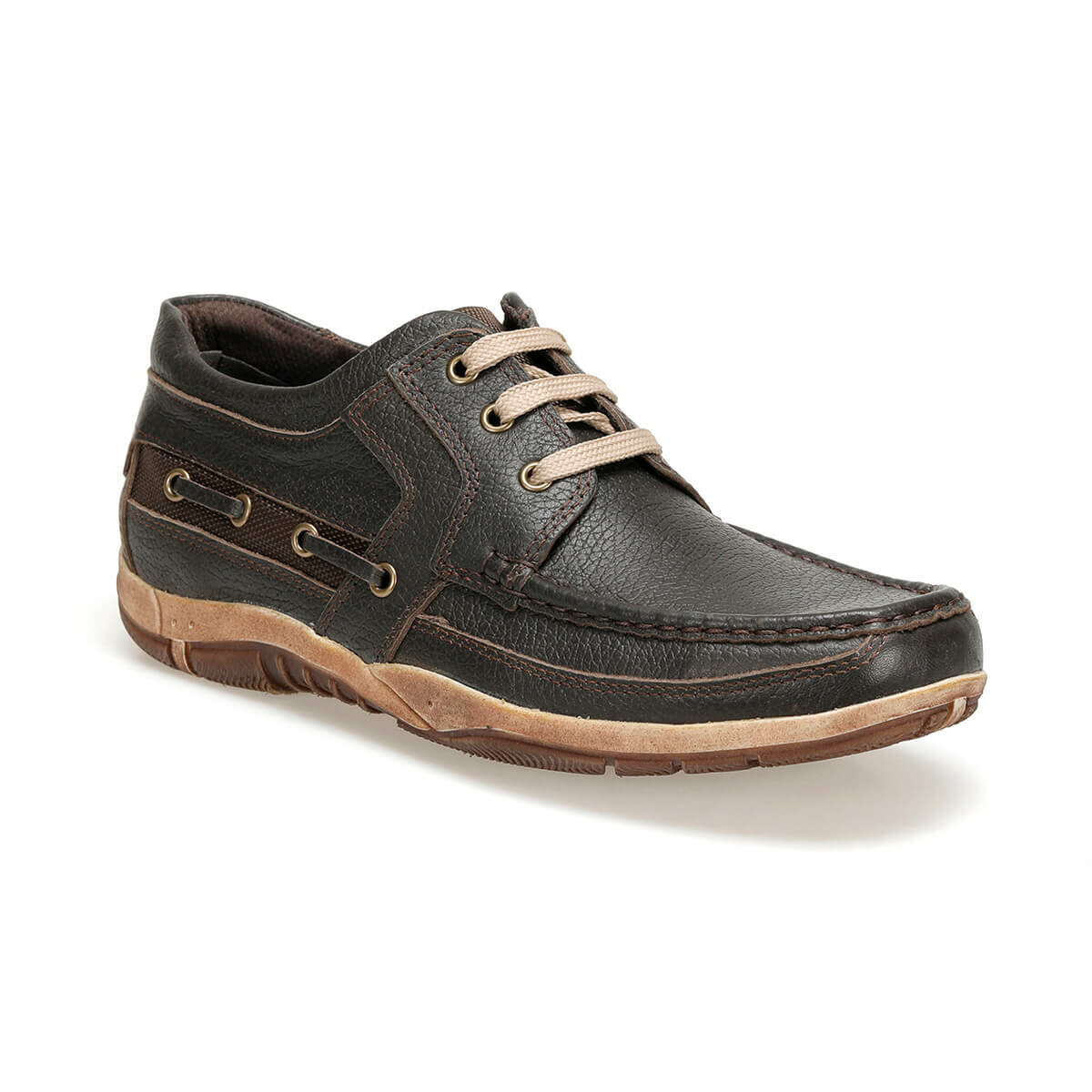 FLO 5076-D C 19 Brown Men Shoes Oxide