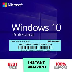 Microsoft Windows 10 PRO Professional Genuine License KEY - Instant Delivery 5 minute