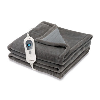 Daga SOFTY FLEECE - Manta eléctrica 120W, 3 temperaturas, 160x100cm, Autostop seguridad...