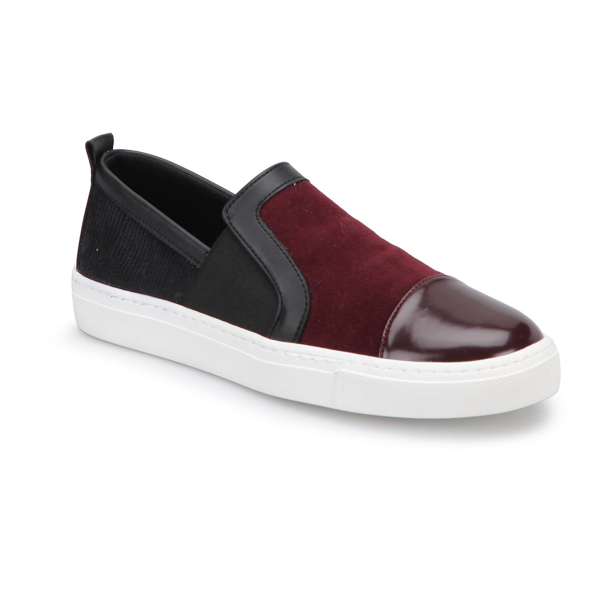FLO Z054 Burgundy Women Slip On Shoes BUTIGO