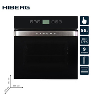 Built in electric oven with convection HIBERG VM 6495 B household home appliances for the kitchen electric oven cooking food