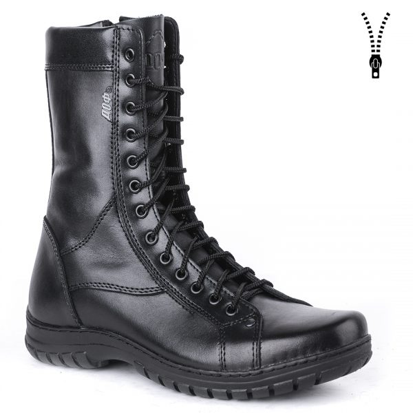 Demiseason Genuine Leather Lace-up Black Army Ankle Boots Men High Shoes Flat Military Boots 0054/11 WA